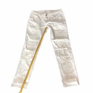 Grace in LA white skinny jeans distressed Sz 29
